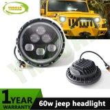 "Ronda 7"" 60W Hola luz de cruce para Jeep Wrangler"