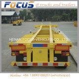 45tons 트럭 수송을%s 40FT 해골 콘테이너 반 실용적인 트레일러