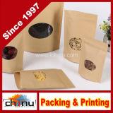 Персонализированный мешок белого сахара кофеего муки Kraft бумажный с печатание клиента (220112)