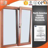 Porta chinesa de Aluminum&Wood Tilt&Sliding com barras coloniais