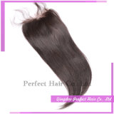 I capelli peruviani con la chiusura del merletto in pieno cucono dentro con la chiusura del merletto (5*5)