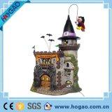 Halloween-Thema-und Feiertags-Dekoration-Geschenk-Harz-Kürbis und Haus