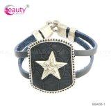 Lega Lucky Star Artificial Leather Bracelet per Man