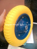 Roda do plutônio Foamwheelbarrow de China com borda do metal