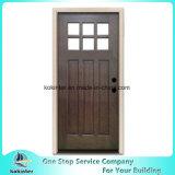 Porta de madeira de mogno manchada de 2-Panel prancha rústica Prehung