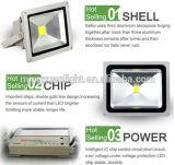 100W LEDの洪水ライトを変更する屋外の景色の照明RGBカラー