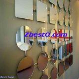 カスタム銀製の壁は装飾的、Windowsまたは屋外ミラーの壁を映す
