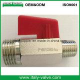 Chromiertes Messingminikugelventil-/Small-Kugelventil (AV-MI-2007)