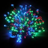 Luzes solares da corda do Natal