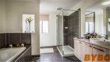 Moderner hoher glatter Melamin-Ende-Küche-Schrank der Tür-Shutter+ (BY-L-101)