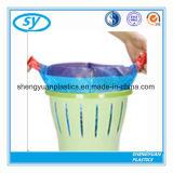 큰 수용량 보유 청결한 HDPE 플라스틱 졸라매는 끈 쓰레기 봉지