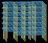 Estructura de acero Buiding de la Pre-Ingeniería de varios pisos