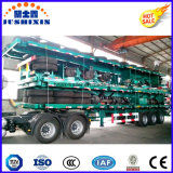3 reboque do leito do transporte de recipiente dos eixos 40-60tons Jushixin 40FT