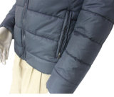 Shenzhen Winter Windproof Thermal Polyester / Algodão acolchoado Hoody Blue Leisure Outer Jacket