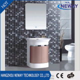 Cabina de cuarto de baño moderna del PVC del espejo de la hebra de la alta calidad LED sola