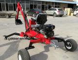 Remorque ATV remorquable avec la CE a approuvé la pelle rétro excavatrice