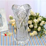 Оптовая красивейшая кристаллический прозрачная стеклянная ваза цветка 2016 для домашнего украшения