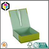 Rectángulo de regalo de encargo del papel de la cartulina del sello de la cinta de la impresión de color