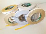 Gelbes doppeltes mit Seiten versehenes Gewebe-Stickerei-Band/Stickerei-Band