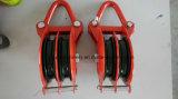 Bloc de Yarding avec la poulie de double de jumelle, poulie de câble