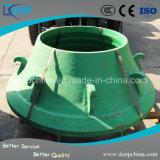 Manganês elevado forte da resistência de desgaste côncavo para o triturador do cone