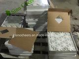 Jet de agua blanco de Carrara Thassos - mosaicos de mármol de la flor
