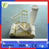 Плоский / Овальный стакан фильтра мешок для сбора пыли из углеродистой стали клеток с помощью перепускного клапана
