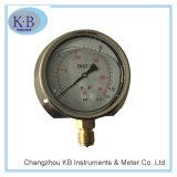 Bourdon管のオイルの満たされた産業圧力計