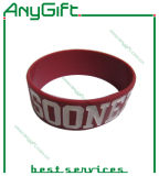Silicone Wristband con Debossed Color Infilled Logo (LAG-WB-04)
