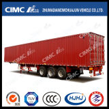 Cimc Huajun Highquality 3axle Van/Carbone-Carrying Semi Trailer di Box