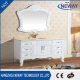 Haut de marbre naturel Antique armoire salle de bains en bois massif