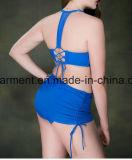 女性の大きいサイズのビキニ、とサイズの二つの部分から成った水着