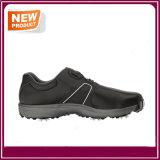 Sapatas respiráveis do golfe da forma nova preta da cor