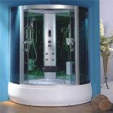 浴室デザイン緩和されたガラスの円形のシャワー室の小屋