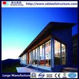 Villa prefabbricata di lusso della struttura d'acciaio dell'indicatore luminoso della Camera di basso costo