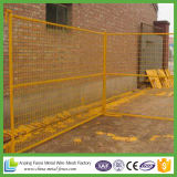 frontière de sécurité provisoire enduite de construction de poudre normale de 6FT Canada