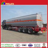Rimorchio del camion dell'olio del serbatoio dell'acciaio inossidabile dei tre assi di BPW