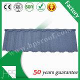 Tuile de toiture enduite de construction de la Chine de pierre colorée durable de matériau, feuille en acier de toiture