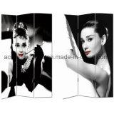 Tela di canapa di vendita calda del comitato della stampa 3 del ritratto delle donne di Marilyn Monroe Audrey Hepburn/schermo & divisori di legno