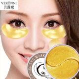 Hidratantes hidratantes naturais VERONNI rugas envelhecimento anti colágeno cristal olho a ouro 24K máscara de gel de patch do anel do sono 30 pares