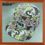 La mode Custom 5 panneaux chapeau avec étiquette tissée