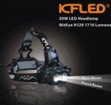1710屋外スポーツのための内腔20W LEDのヘッドライト、スキー、Orienteering (H120)