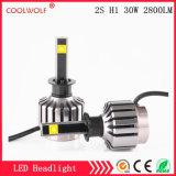Faro delle lampadine del faro dell'automobile LED di vendita diretta 2s H1 30W 2800lm LED della fabbrica con il prezzo competitivo