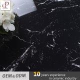 O branco de mármore preto veia telhas de China da telha da porcelana na telha de assoalho cerâmica interrompida Paquistão para a venda