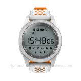 Relógio impermeável do esporte da tela redonda com o F3 da bateria da tecla