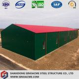 Estructura metálica prefabricada cobertizo de almacenamiento
