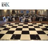Dance Floor blanc et noir pour l'étage de contre-plaqué d'hôtel et de location et le bâti d'aluminium