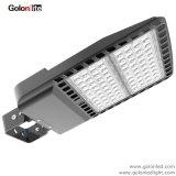 100-277VAC 347V 480V 광전지 센서 150W LED Shoebox 최고 옥외 지역 점화