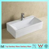Navire de luxe rectangulaire lavabo
