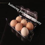 Bandeja de ovo de plástico transparente descartável para ovos para o pacote de ovos de frango